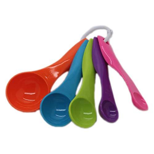 Yuwooben Hot New 5 Stück Bunte Messlöffel-Set Küchenutensilien Creme Kochen Backen für Zuhause Dekoration - Farben