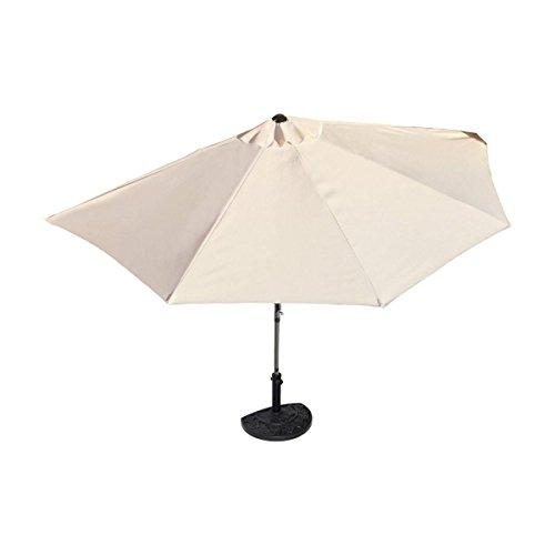 Sonnenschirm halbrund rechteckig für Balkone oder Terrassen Polyester/Metall ca. 270 cm breit beige