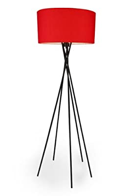 """[lux.pro] Stehleuchte """"Red Mikado"""" [E27 Sockel][155 cm x Ø 48 cm] Stehlampe Fußbodenlampe Zimmerlampe Wohnzimmerlampe von [lux.pro] auf Lampenhans.de"""