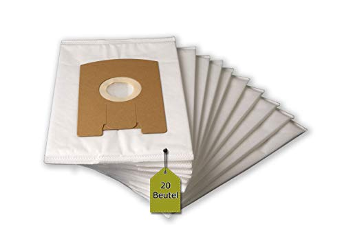 eVendix 20 Staubsaugerbeutel/Staubbeutel/Filtertüten passend für Vorwerk Tiger VT 260, 265, 270, VT260, VT265, VT270