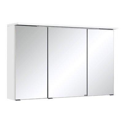 Held Möbel 013.1.0001 3D Spiegelschrank 100, Holzwerkstoff, weiß, 20 x