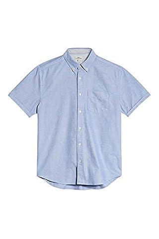 next Herren Kurzärmeliges Oxford-Hemd Hellblau XXL