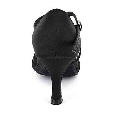 Scarpe da ballo-Personalizzabile-Da donna-Balli latino-americani-Tacco su misura-Finta pelle-Nero / Blu / Rosso / Bianco / Altro Black
