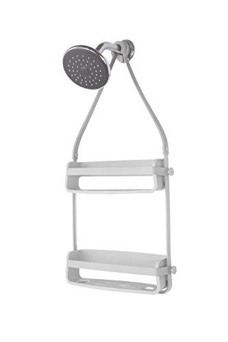 UMBRA Flex Shower Caddy. Caddie de douche Flex. Organiseur de douche à étagères, à suspendre, coloris gris