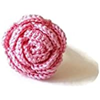 Anello rosa gioielli regalo per lei ragazza fidanzata natura fatto a mano uncinetto fiore sicilia