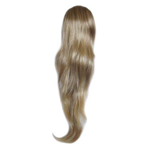 Capelli a caldo - glam - hair extensions - coda di cavallo - clip - 70 cm - luce cioccolato / biondo
