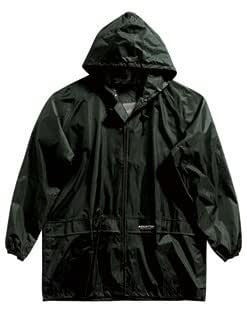 """REGATTA ADULTS FULLY WATERPROOF JACKET - ALL SIZES - 3 COLOURS (LARGE - 40/42"""", BLACK)"""