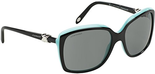 Tiffany & co. occhiali da sole da donna 4076/s - 80553f: nero su turchese