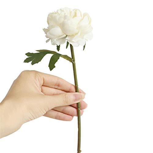 happy event Unechte Blumen | Künstliche Deko Blumen Gefälschte Blumen Blumenstrauß | Rose Für Braut Hochzeitsblumenstrauß für Haus Garten Party Blumenschmuck | Artificial Flowers (Weiß)