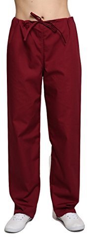 Lister Unisex Krankenhaus-Bekleidung / Arzt-Uniform, verschiedene Farben, Größen XS bis 4XL Gr. 31-35, kastanienbraun (Krankenhaus-uniformen)
