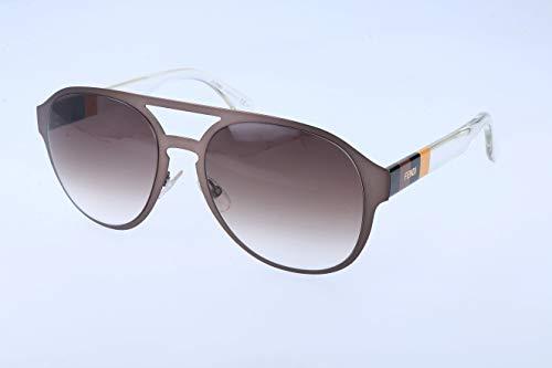 Fendi Damen FF 0082/S JS E1H Sonnenbrille, Braun (Brw Pqnylcry/Brown Sf), 55