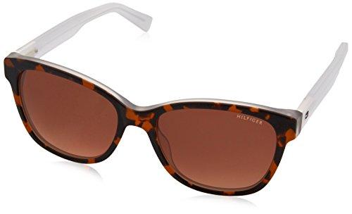 Tommy Hilfiger Unisex-Erwachsene Sonnenbrille TH 1363/S 63, Schwarz (Havana Crystal), 54 Preisvergleich