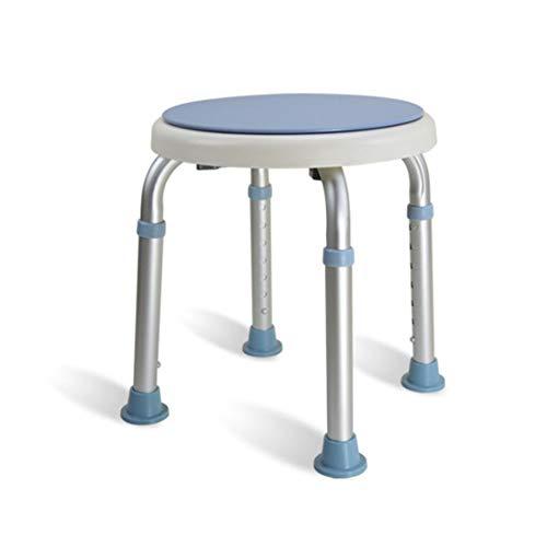 SXRNN SXRL 360°Drehbarer Duschstuhl, Höhenverstellbar Badehocker für Senioren und Schwangere aus