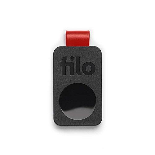 FiloTag Keyfinder | Localizzatore di Oggetti tramite App. Tracker Bluetooth | Ritrova gli Oggetti che Hai Perso | Misure: 25x41x5mm | Pack da 1, Nero