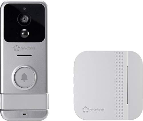 Renkforce RF-3206026 IP-Video-Türsprechanlage WLAN, Funk Komplett-Set Silber, Weiß Rf Video