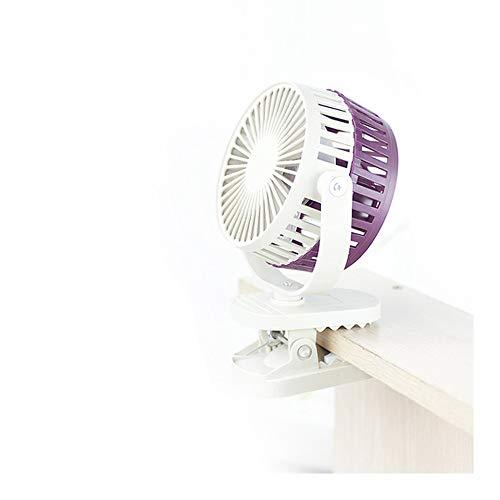 Tragbarer Ventilator für Reisen, wiederaufladbar, kleiner Ventilator, USB-Mini-Ventilator, Handventilator für Schreibtisch, Kinderwagen, Kinderbett, Auto, Reisen, Outdoor, Camping violett