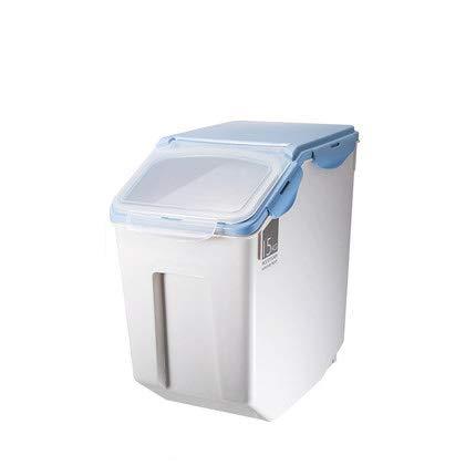 Tiernahrungsbehälter 22 Pfund, PP Material Material Enthalten 1 STÜCKE Kunststoff Tiernahrungsschaufel, Hund Katzenfutter Wasser Fütterung Tragbare Camping Schüssel,Blue (30 Pfund Reis)