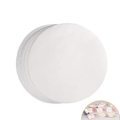 Dewin Folienpapier - Antihaft-Runde Grillpapier, Backbleche, 11-Zoll-Grill-Zinn-Folie Papier für Grill, 100St