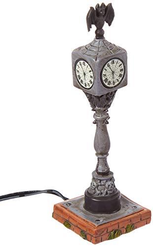 tions beleuchtete Halloween-Town-Uhr-Figur, Dorfzubehör, Mehrfarbig ()
