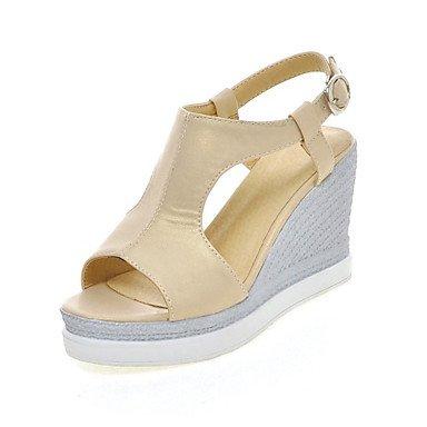 LvYuan Da donna-Sandali-Matrimonio Formale Casual-Altro Innovativo Club Shoes-Zeppa-Materiali personalizzati Finta pelle-Blu Rosa Bianco Beige Pink