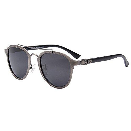 Ppy778 Retro Steampunk Style Unisex inspiriert Runde Metallkreis polarisierte Sonnenbrille für Männer und Frauen (Color : Blue)