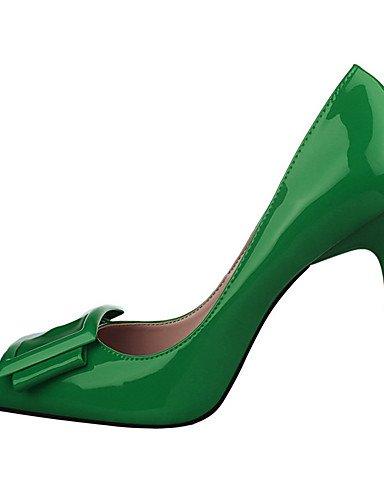 WSS 2016 Chaussures Femme-Extérieure / Habillé-Noir / Vert / Violet / Rouge / Blanc / Gris-Talon Aiguille-Talons / Bout Pointu-Talons-PU green-us7.5 / eu38 / uk5.5 / cn38