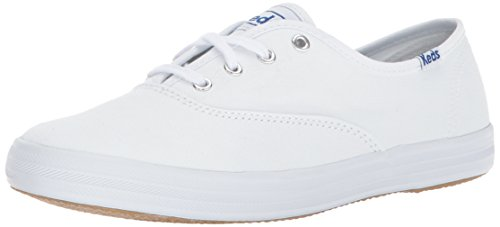 Keds Damen Champion Canvas Sneaker, Weiß Canvas,6 W US (Sportschuhe Keds)
