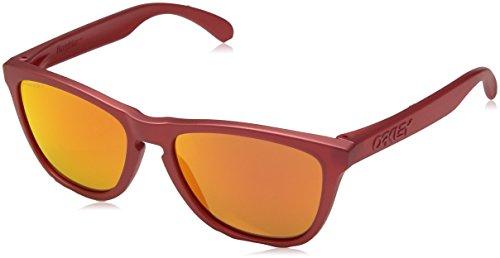 Oakley Herren FROGSKINS 9013C8 55 Sonnenbrille, Rot (Ir Red/Prizmruby)