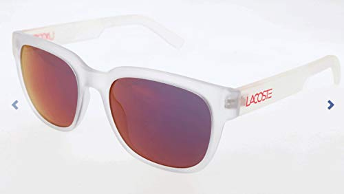 Lacoste Unisex-Erwachsene L830S Sonnenbrille, Weiß, 53