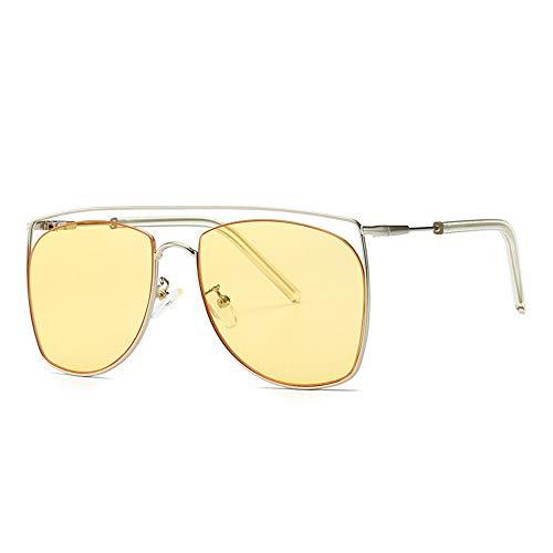 WET0VSD New Frauen Sonnenbrillen Mode Stil Trendy Legierung Rahmen Licht Frauen Sonnenbrille Rosa Grün Gelb Trendy Brillen