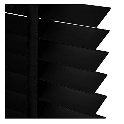 PENGFEI Jalousie Raffrollo Massivholz Horizontale Römische Farbtöne Büro Sonnenschutz, Schwarz, Größenanpassung (Color : A-Upgrade Style, Size : 100x160cm) - Schwarze Farbtöne Römische