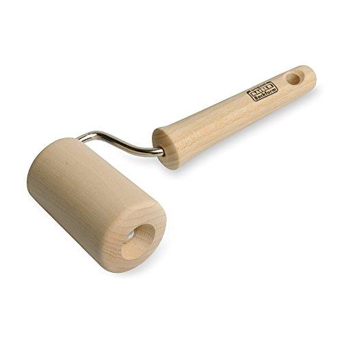 KAISER Backform-Roller 7,5 cm Pâtisserie sehr glattes, unbehandeltes Buchenholz Leichtlauf-Mechanismus konische Formgebung