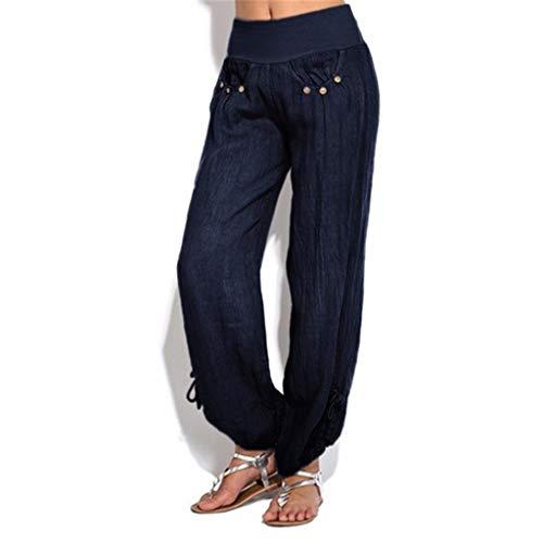 Allence Damen Hosen Freizeithose Elegant Pumphose Haremshose Hohe Taille Leicht Modern Oversize Freizeit