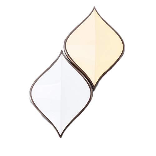 WZQ Moderne LED-Wandleuchte, Kreative Einfache Nachttischlampe Acryl Shade Double Wall Lampe, für Wohnzimmer Schlafzimmer Korridor Treppen Bad Innendekoration Beleuchtung, warmes weißes Licht Double Wall Acryl