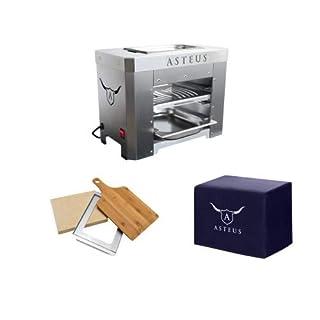 Asteus Steaker V2 Aktions-Set Bundle Elektro Infrarot Grill bis 800° Grad Edelstahl V2A Indoor Outdo