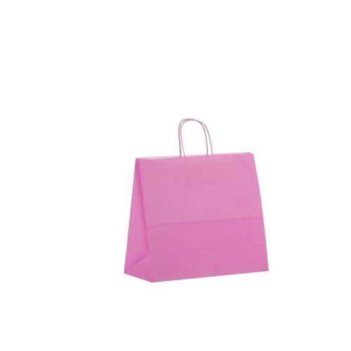 25 Tragetaschen Papier pink 32x13x28cm