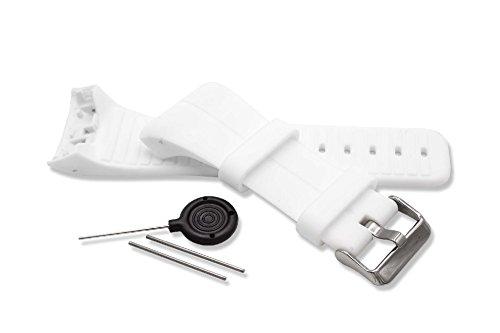 vhbw® Armband für Polar M400, Polar M430 GPS-Laufuhr, Weiß Ersatzarmband