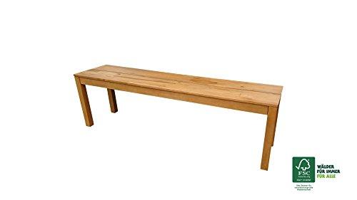 SAM Garten-Bank Elyar aus Akazien-Holz, FSC 100% zertifiziert, 150 cm Breite, 3-Sitzer Holzbank, Balkon-Bank aus Akazien-Holz geölt, Garten-Möbel braun, Massiv-Holz-Bank für Terrasse