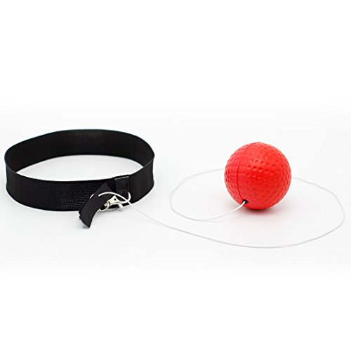 Reflex Boxing Ball for Training to Improve Speed and Reactions Punch Focus Sport Exercise Practice Fitness Trainer Elastic Head Band Set Cap Hat Puncher