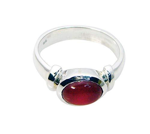 schmuck 925 massiv sterlingsilber fein Aussehende natürliche rote Ring Geschenk 75 (23.9)