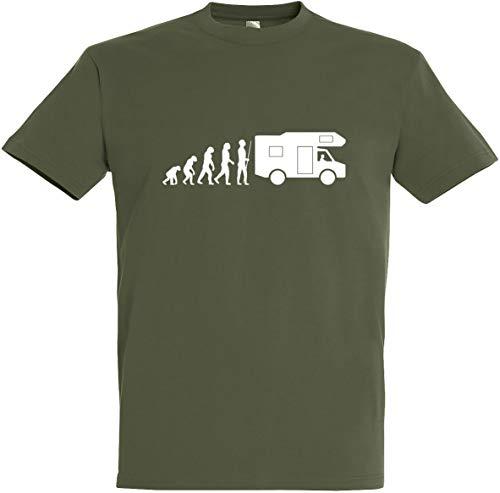 Herren T-Shirt Caravan Evolution (L, Olive)