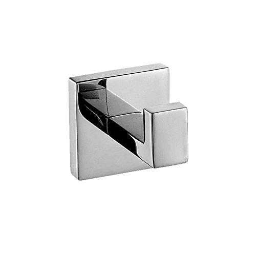 Aothpher 304 Edelstahl verchromt Handtuchhaken, Modern Chrom Handtuch Robe Luxus Quadrat Badezimmer Zubehör …