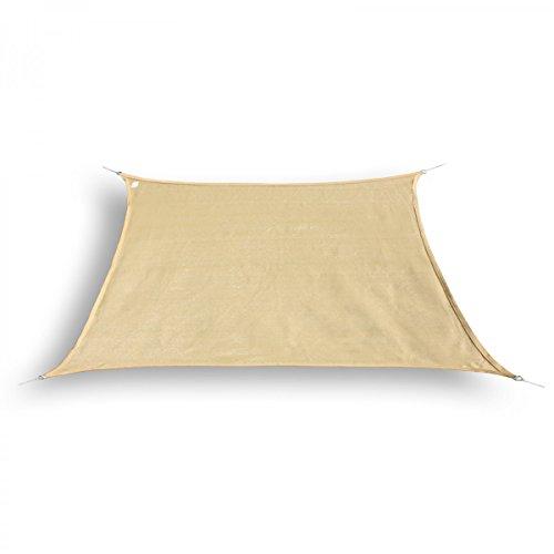 Marken Sonnensegel Sonnenschutz Trapez Trapezform trapezförmig 4 / 5 x 4 m Sand