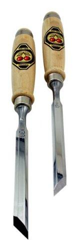 Kirschen 1056012 Ciseaux à Bois Paire avec Lame en Biais, Beige/Argent, 12 mm