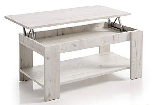 5. Hogar24 - Mesa elevable Blanco Vintage