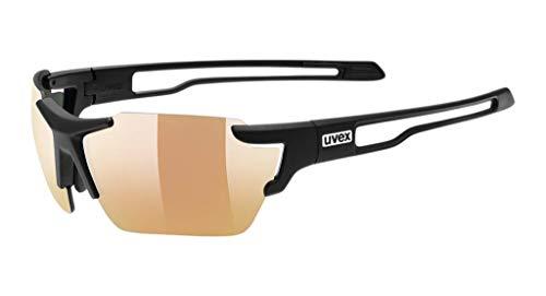 Uvex Erwachsene Sportstyle 803 colorvision variomatic Sportbrille Mit Kontraststeigerung Und Stufenloser Scheibentönung, Black mat, One Size