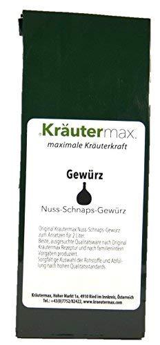 Nuss-Schnaps-Gewürz 1 x 60 g - auch Nuss-Schnaps-Österreich - Nuss-Geist - zum Ansezen für 2 Liter Nuss-Schnaps - mit Ingwerwurzel, Sternanis, Anis, Fenchel, Zimtrinde, Nelken, Muskatnuss