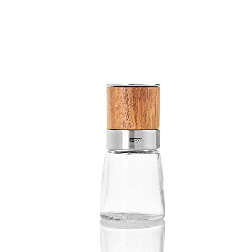 AdHoc Akasia Pfeffer- oder Salzmühle, Ceramic Mahlwerk CeraCut, Gewürzmühle, 13.5 cm, Edelstahl/Akazienholz, MP99