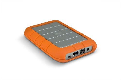 LaCie Rugged 1TB externe Festplatte (6,4 cm (2,5 Zoll), 5400rpm, USB 2.0, FireWire 400/800, stossresistent)