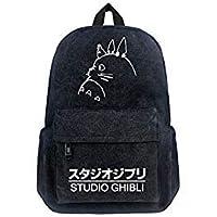 Gumstylekxgj My Neighbor Totoro Anime Canvas Backpack Knapsack Schoolbag for Boys Girls Students